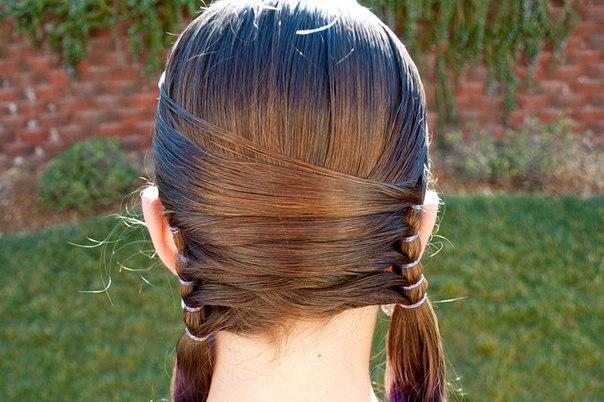 Прическа со средними волосами для детей